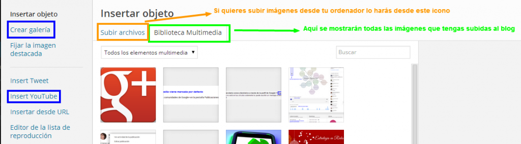 Opciones Multimedia en WordPress