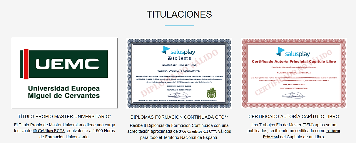 competencias digitales en salud Salusplay